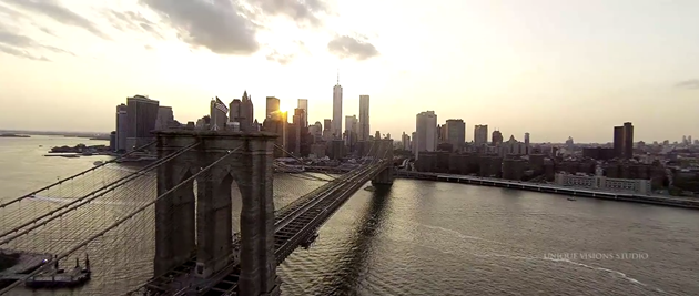 aerial dji phantom ny wedding  brooklyn bridge