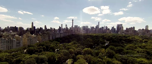 aerial dji phantom ny wedding central park