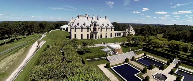 aerial dji phantom ny wedding oheka castle